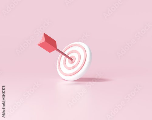 Canvas Print Arrow hit the center of target