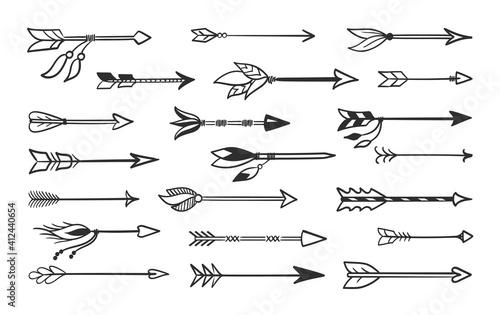 Billede på lærred Hand made arrows for bow set