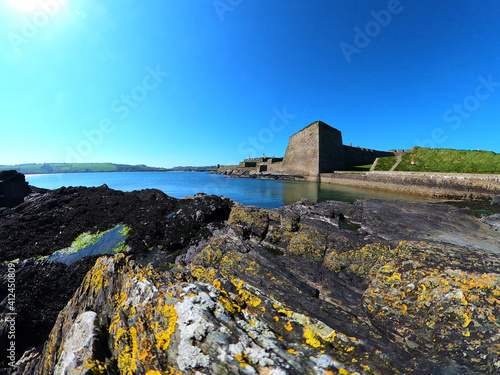 Fotografie, Obraz Walls and bastions of Charles Fort. Kinsale. Ireland.