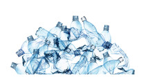 Watercolor Pile Of Plastic. Plastic Pollution Background. Plastic Bags, Plastic Bottles Arrangement For Ecology Posters, Enviroment Protection, Save The Ocean, Earth Day Posters, Web, Social Media