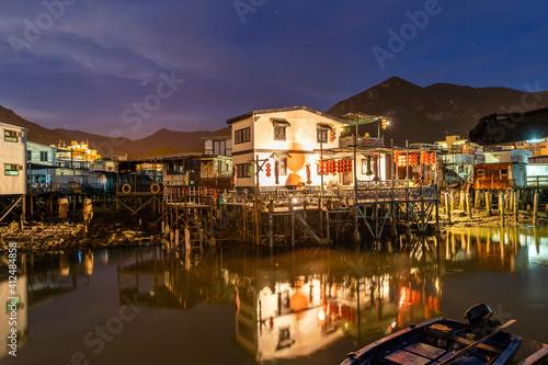 Foto Tai O Fishing Village at Night, Hong Kong
