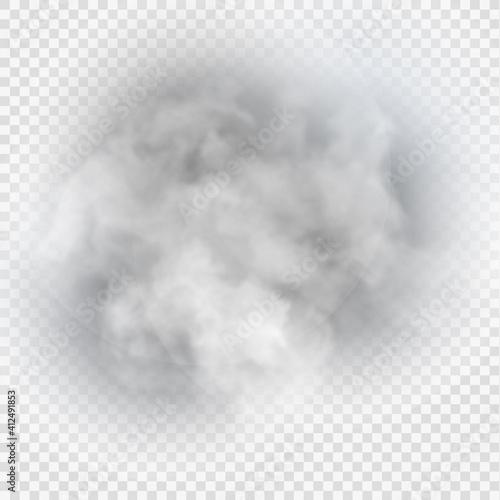 Fotografie, Obraz Fog or smoke isolated transparent special effect