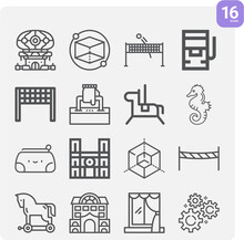Simple Set Of Framework Related Lineal Icons.