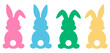 Set easter bunny silhouettes vector illustration