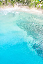 Seychelles Beach Mahé Mahe Island Sea Copyspace Portrait Format Vacation Ocean Drone View Aerial Photo