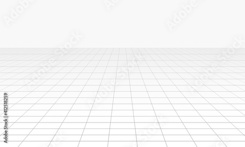 Obraz Vector perspective grid. Abstract wireframe landscape. - fototapety do salonu