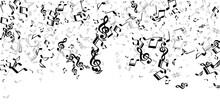 Musical Note Symbols Vector Wallpaper. Song