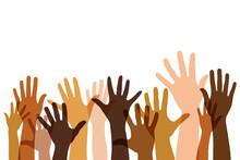 Ausgestreckte Transparente Vielfältige Hände Als Team