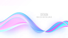 Smooth Wavy Blue Lines In The Form Of Abstract Waves Waved Design Elevent