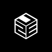 ZEU Letter Logo Design With Black Background In Illustrator, Cube Logo, Vector Logo, Modern Alphabet Font Overlap Style. Calligraphy Designs For Logo, Poster, Invitation, Etc.