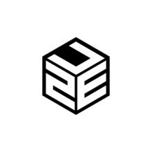 ZEU Letter Logo Design With White Background In Illustrator, Cube Logo, Vector Logo, Modern Alphabet Font Overlap Style. Calligraphy Designs For Logo, Poster, Invitation, Etc.