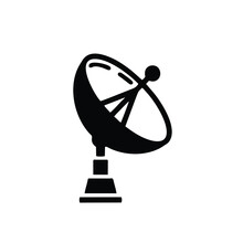 Satellite Antenna Line Icon. Linear Style Mark For Mobile Concepts And Web Design. Satellite Parabolic Antenna Line Vector Icon. Symbol, Logo Illustration.