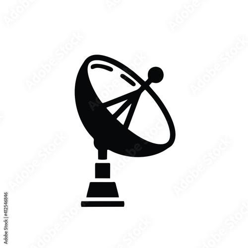 Leinwand Poster Satellite antenna line icon