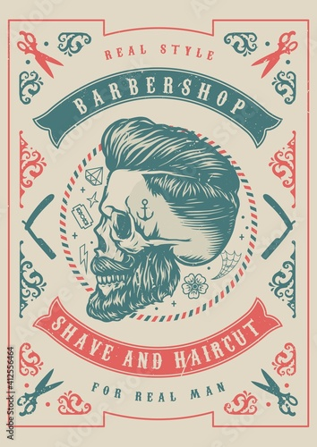 Vintage barbershop template © DGIM studio