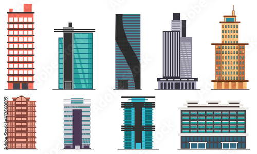Buildings and Skyscrapers | Each Building is grouped and placed in different layers for ease of use