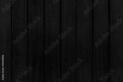 Fototapeta Old black vintage wooden wall pattern and seamless background obraz na płótnie