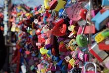 Close-up Of Love Padlocks