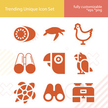 Simple Set Of Dove Related Filled Icons.