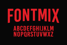 Font Style Condensed Bold Sans Serif Vector