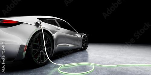 Obraz na plátně E-Mobility and ecology