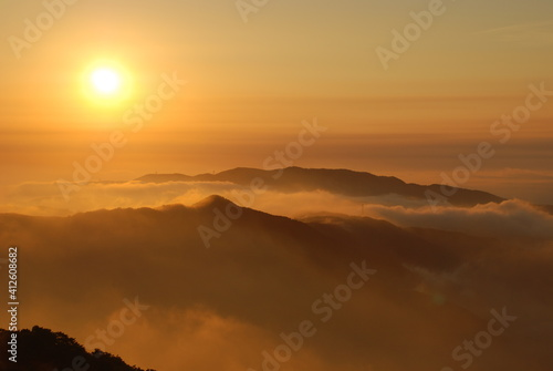 фотография Scenic View Of Dramatic Sky During Sunset