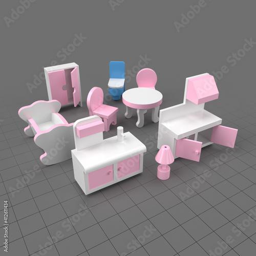 Fototapeta Toy furniture obraz