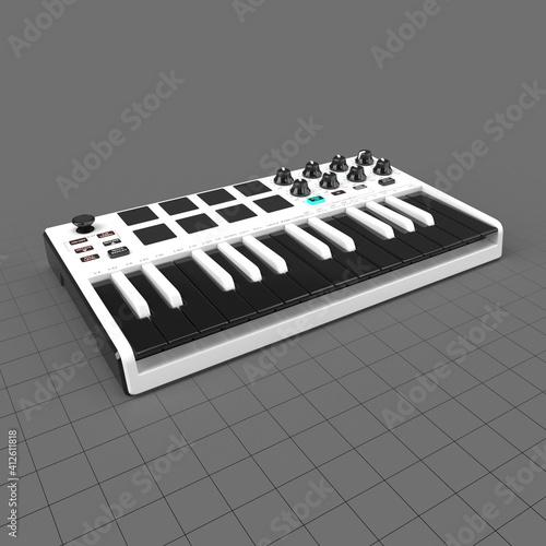 Fototapeta 25 key mini keyboard controller obraz