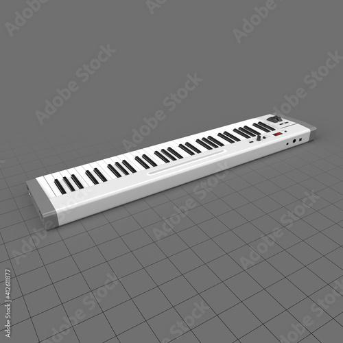 Fototapeta Master 61 key midi keyboard obraz