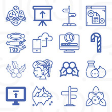 16 Pack Of Yet  Lineal Web Icons Set