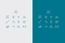 Gold Digger Icons Vector Set