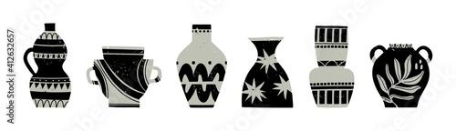Obraz na plátně Various ceramic Vases