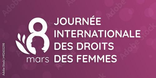 Fototapeta Journée Internationale des droits des Femmes - 8 Mars obraz