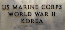 US Marine Corps American Military Inscription