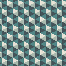 Contemporary Geometric Pattern. Repeated Triangles Ornament. Modern Abstract Background. Seamless Geo Design Wallpaper