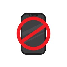 Please Silence Your Mobile Phone Vector Icon On Isolated Background. Please Turn Off The Power.