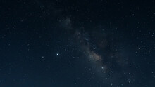 Beautiful View Of The Milky Way Constellation Full Of Bright Stars