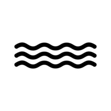 Wave Icon Or Logo Isolated Sign Symbol Vector Illustration - High-quality Black Style Vector Icons
