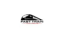 Logo For A Fast Railroad Company With A Fast Moving Train