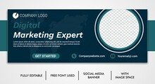Business Facebook Cover, Corporate Social Media Post Template Design, Template Banner Design For Social Media, Digital Business Marketing Promotion Timeline Facebook And Social Media Cover Template