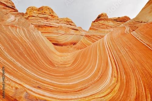 Obraz na płótnie Aerial View Of Rock Formations In Desert