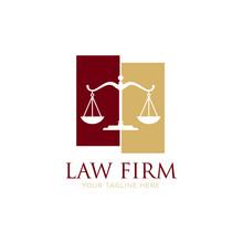 Attorney And Law Logo. Modern Design