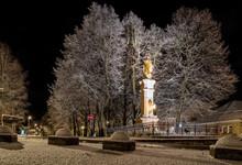 Statue Of Immaculata - Marian Column At Town Ruzomberok, Slovakia