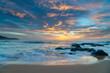 High cloud beautiful sunrise seascape