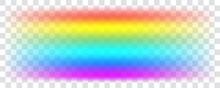 Realistic Spectrum Colour Rainbow On Transparent Background