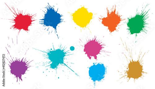 Beautiful color paint blots, splashes Fototapet