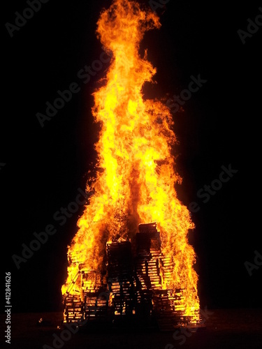 Photo fire in the fireplace