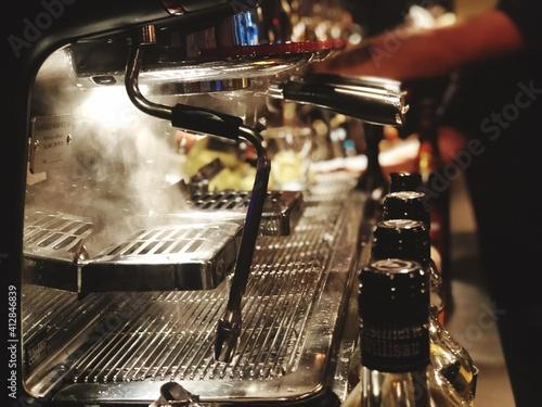 Canvas Close-up Of Espresso Maker At Cafe