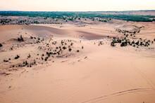 White Sand Dunes At Mui Ne, Vietnam. Top, Aerial View