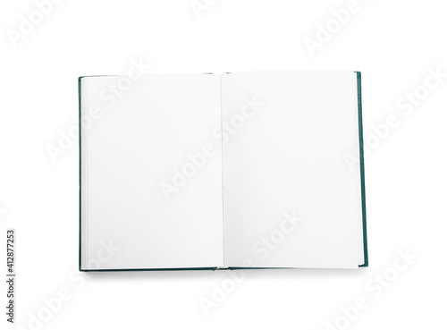 Obraz Blank book on white background - fototapety do salonu