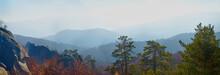 Chain Of The Carpathian Mountains. Autumn Time
